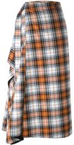 Cédric Charlier checked A-line skirt - women - Virgin Wool/other fibers - 38