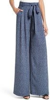 Milly Women's Natalie Wide Leg Chambray Pants