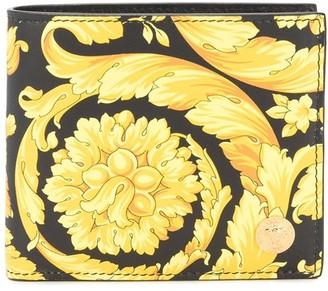 Versace Baroque Pattern Bi-Fold Wallet