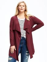 Old Navy Open-Front Plus-Size Asymmetrical Cardi