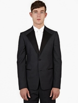 Maison Margiela Grey Wool-Blend Satin-Trimmed Jacket