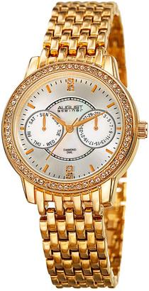 August Steiner Women's Diamond Accent Alloy Watch