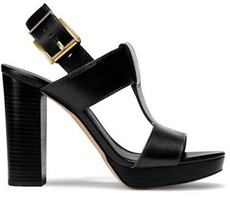 MICHAEL Michael Kors Becker T-Strap Leather Platform Sandals
