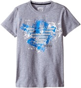 Armani Junior Graphic T-Shirt with Splatter Logo (Toddler/Little Kids/Big Kids)