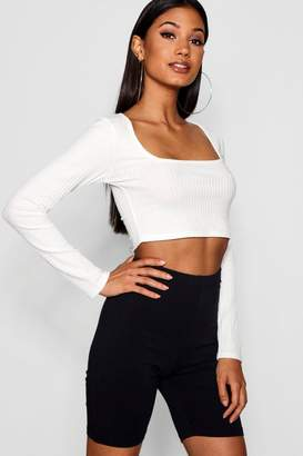 boohoo Basic Cropped Cotton Elastane Cycling Short
