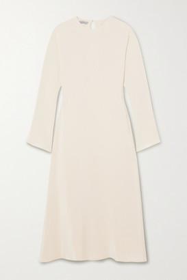 LA COLLECTION Benedicte Silk Midi Dress - Off-white