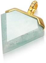 Missoma Amazonite Gold Shield Pendant