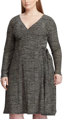 Chaps Plus Size Long Sleeve Midi Dress