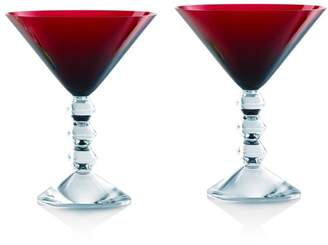 Baccarat Vega Martini Glass Red, Set of 2