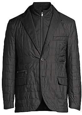 Corneliani Men's Quilted ID Blazer Jacket