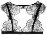 I.D. Sarrieri Dans Tes Bras Chantilly Lace Soft-cup Bra - Black