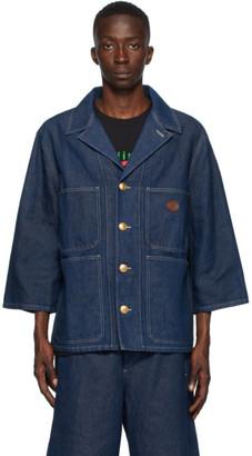 Gucci Blue Denim Stone Wash Jacket