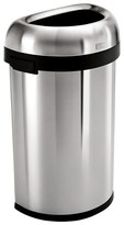 Simplehuman 60 Liter Semi-Round Open Trash Can in Brushed Stainless Steel