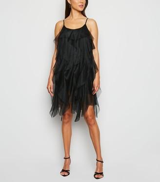 New Look Cameo Rose Ruffle Mesh Dress