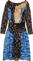 Michael Van Der Ham Meryl fil coupé and devoré dress