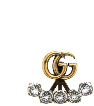 Gucci Single crystal Double G earrings