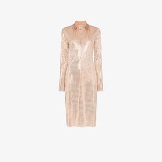 Bottega Veneta Mirror Sequinned Shirt Dress