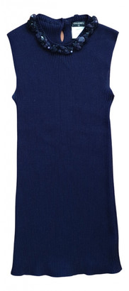 Chanel Blue Cashmere Tops