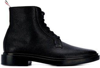 Thom Browne pebble texture lace-up boots