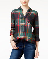 Polly & Esther Juniors' Herringbone Plaid Shirt