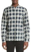 Ovadia & Sons Men's Crosby Raw Edge Print Woven Shirt