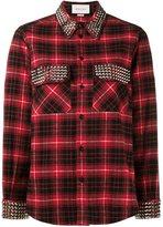 Gucci studded plaid shirt - women - Cotton/metal - 40