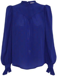 custommade Custom Made - Cobalt Blue Angelica Blouse - 34