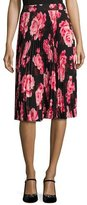 Kate Spade Rosa Floral Pleated Chiffon Skirt, Multicolor