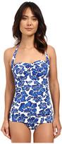 Lauren Ralph Lauren Tahitian Floral Retro Swimdress w/ Slimming Fit & Molded Cup