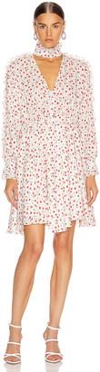 Fleur Du Mal Ruffle Shirt Dress in Fire Opal Carnation   FWRD