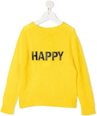 Twin-Set Happy cable-knit jumper