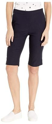 Tribal Stretch Bengaline Flatten It Pull-On Bermuda (Black) Women's Shorts