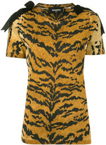 DSQUARED2 leopard print top - women - Cotton/Polyester/Viscose - S