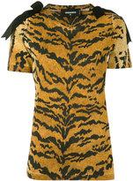 DSQUARED2 leopard print top