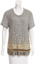 RED Valentino Embellished Short Sleeve T-Shirt
