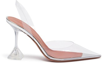 Amina Muaddi Holli clear PVC slingback pumps