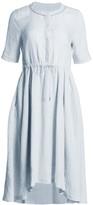 Fabiana Filippi Drawstring Waist Linen Dress