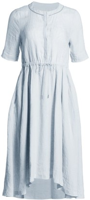 Fabiana Filippi Drawstring Waist Linen Dress
