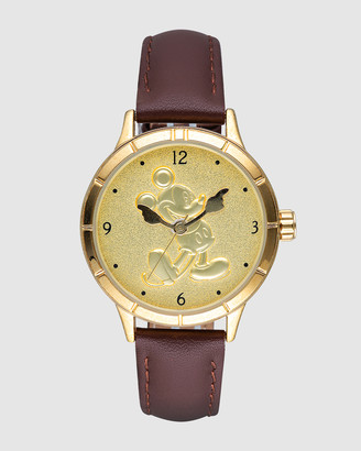 Disney Mickey Gold Sculpted Dial Watch