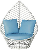 David Francis Furniture Palm Outdoor Lounge Chair - Blue