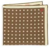 Isaia Dot Print Pocket Square