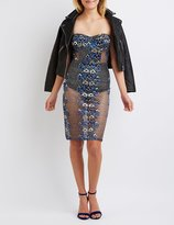 Charlotte Russe Lace Bustier Bodycon Dress