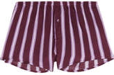 Love Stories Sunday Striped Satin Pajama Shorts - Plum