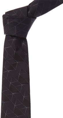 Canali Navy Geometric Silk Tie
