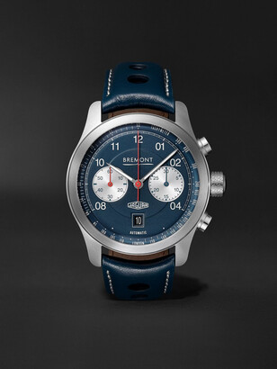 Bremont - Limited Edition Jaguar D-Type Automatic Chronograph 43mm Stainless Steel and Leather Watch - Men