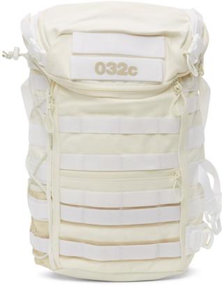 032c White adidas Originals Edition Canvas Logo Backpack