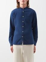 Oliver Spencer Washed Cotton Shirt - Mens - Blue