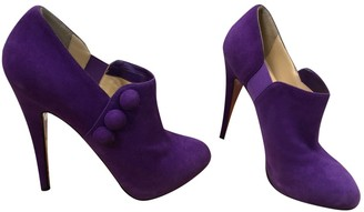 Christian Louboutin Purple Suede Ankle boots