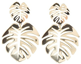 Lilly Pulitzer Golden Palm Earrings (Gold Metal) Earring