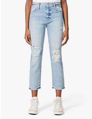 Mother The Scrapper Ankle straight stretch-denim jeans